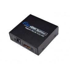 Axin 4KDK-102 - HDMI Разветвитель - Splitter 1х2  выхода, Full HD, 3D, UHD/4K