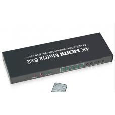 Axin Matrix 4KDK602 - HDMI 6x2 матрица