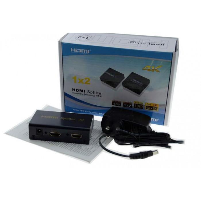 Разветвитель HDMI 4K Splitter ORIENT HSP0102H-2.0, 1-2 HDMI 2.0/3D UHDTV 4K/ 60Hz (3840x2160)/HDTV1080p HDCP2.2 EDID управление RS232 порт IR
