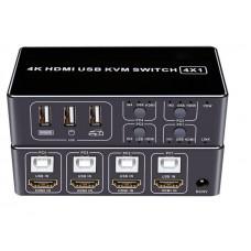 DK104  - 4 USB/HDMI Переключатель KVM Switch