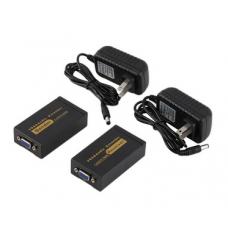 Axin DK-100 VGA extender усилитель  по витой паре до 100 метров Cat5e/6-568B + audio