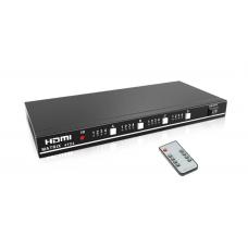 AXIN 4x4  - HDMI матрица 4x4 матричный переключатель 4 входа и 4 выхода ИК пульт, RS232