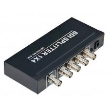 SDI Разветвитель, SDI-104 Splitter 1х4 разветвитель на 4 выхода, с аудиовыходом.