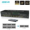 SGEYR 6x2  - HDMI матрица 6x2 матричный переключатель 6 вход и 2 выход ИК пульт аудио экстрактор ARC SPDIF поддержка 4 к