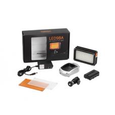 Светодиодный накамерный свет Lishuai Fotodiox-98A в комплекте с аккумулятором и зарядным устройством