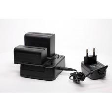 Зарядное устройство Lishuai PN-201 для 2 аккумуляторов Sony NP-F