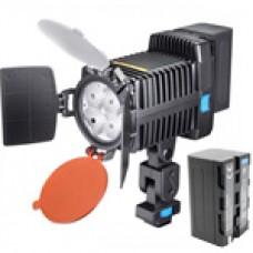 Светодиодный накамерный свет Fujimi FJLED-5005 KIT  в комплекте с аккумулятором, зарядным устройством