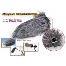 Меховая ветрозащита для микрофона 12 см