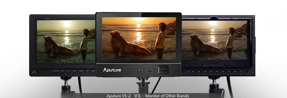 Профессиональный накамерный IPS монитор Aputure VS-2, 1024x600, поддержка 1920x1080