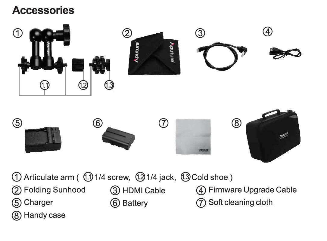 Профессиональный накамерный IPS монитор Aputure VS-2