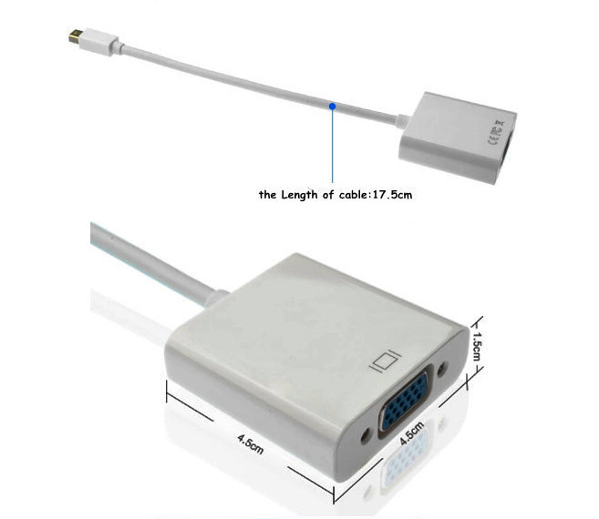 Конвертер Mini Displayport в VGA