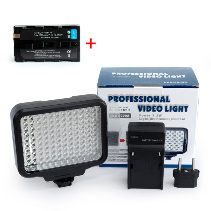 Накамерный свет LED 5009A - модель с регулировкой цветовой температуры