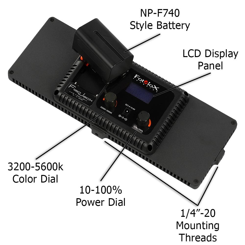 Видеосвет LISHUAI Flapjack C-218A  led