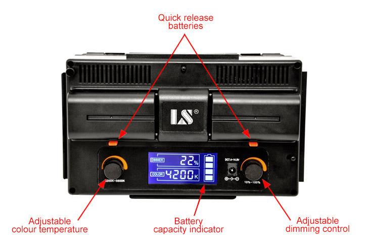 накамерный свет LED-312DS LCD экран