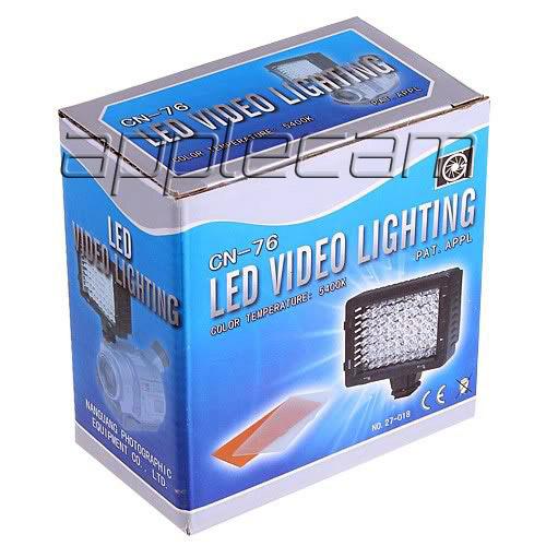Накамерный свет для видеосъемки LED CN-76. Пр-во: Китай