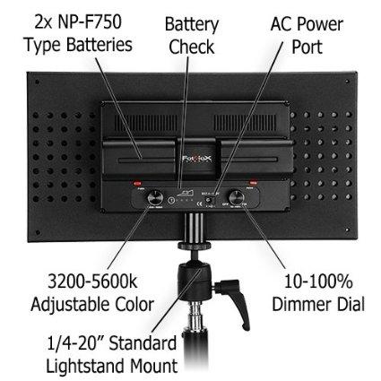 Светодиодный накамерный свет Lishuai-508AS с регулировкой цветовой температуры и диммером яркости