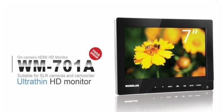 Профессиональный накамерный монитор 7'' Wondlan WM-701A